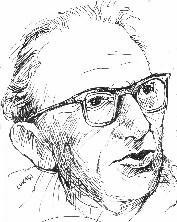 Georg Lukacs - sketch taken from Hegel Made Easy of intellectual looking east european man in thick glasses