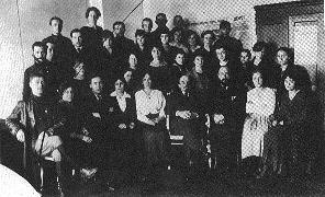 staff of the secretariat of the Council of People's Commissars and All-Russia Central Executive Commitee in the Kremlin. Moscow. October 17, 1918